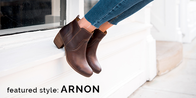 Featured style: Arnon leather bootie, shown in brown. Shop Arnon