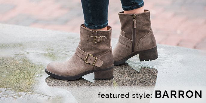 Featured style: Barron engineer-inspired boot, shown in suede taupe. Shop Barron