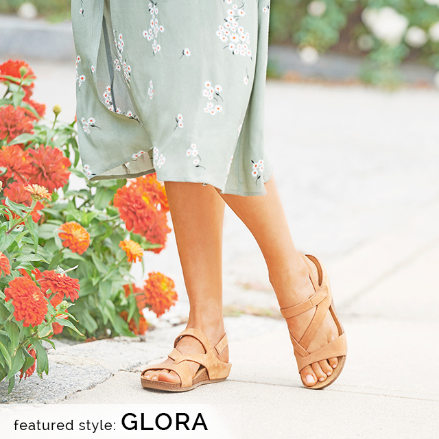 Featured style: Glora sandal in Tan