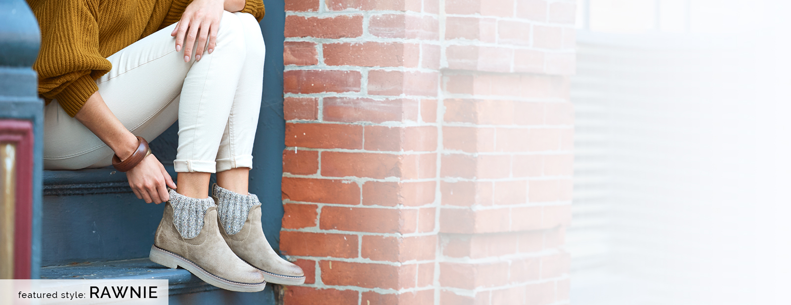 Featured style: Rawnie in Light Taupe Suede (tan).