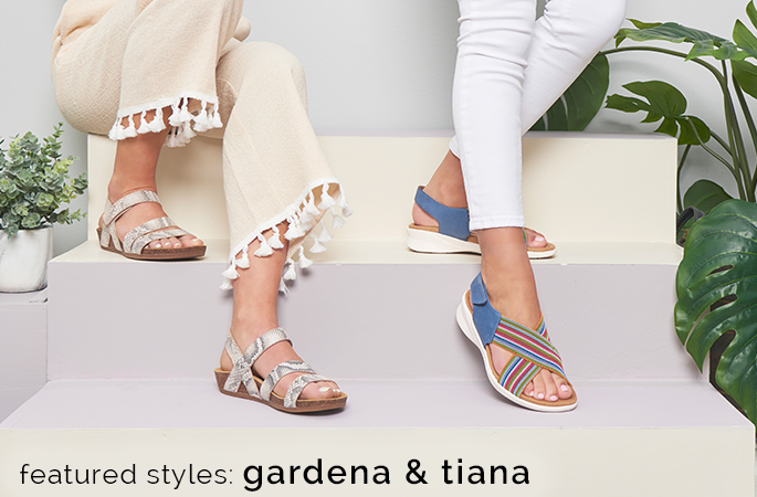 Featured style(s): Gardena shown in natural snake and Tiana shown in french blue. Shop Gardena.