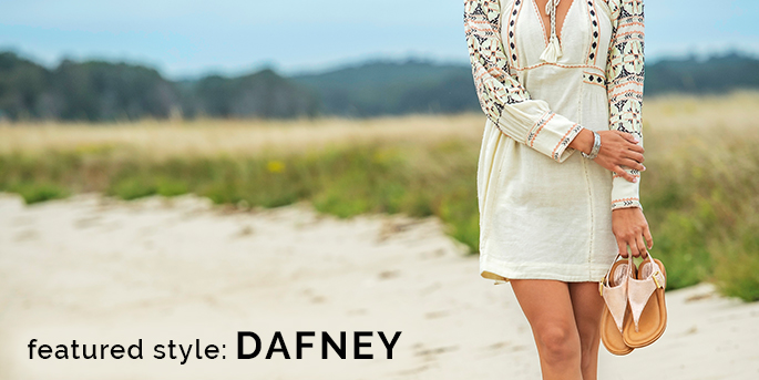 Featured style: Dafney shown in rose gold. Shop Dafney.