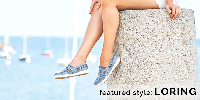 Featured style: Loring shown in chambray. Shop Loring.